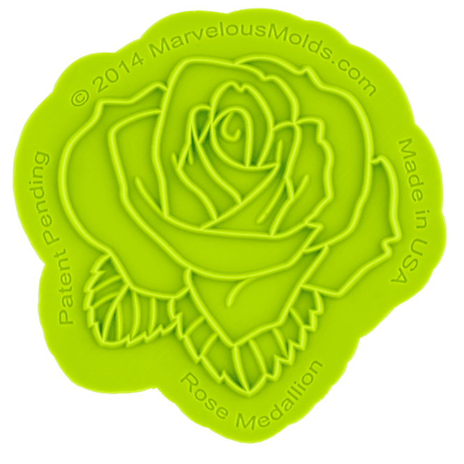 Marvelous Molds Rose Medallion Silicone Onlay