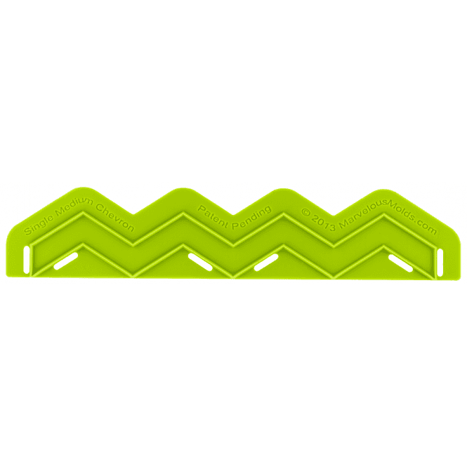 Marvelous Molds Single Medium Chevron Silicone Onlay
