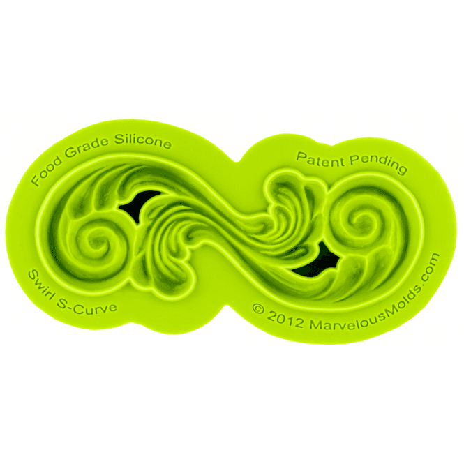 Marvelous Molds Swirl S-Curve Silicone Mould