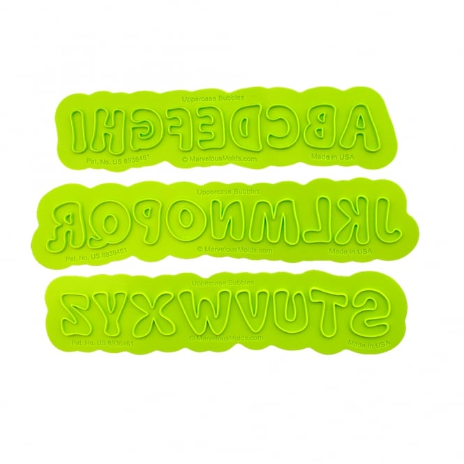 Marvelous Molds Uppercase Alphabet Bubble Flexabet Onlay
