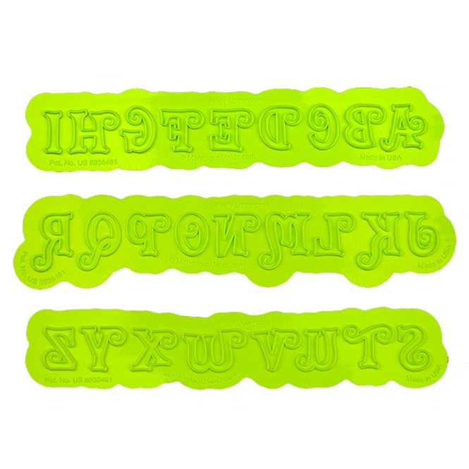 Marvelous Molds Uppercase Alphabet Swirly Flexabet Onlay