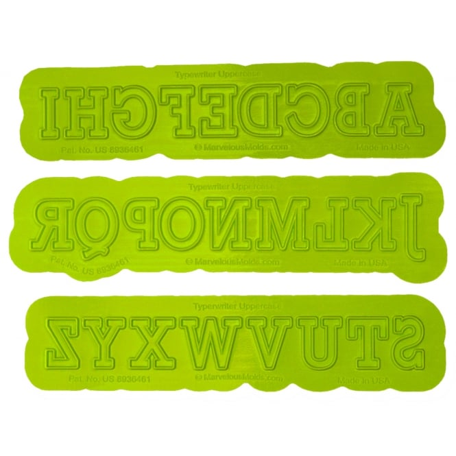 Marvelous Molds Uppercase Alphabet Typewriter Flexabet Onlay