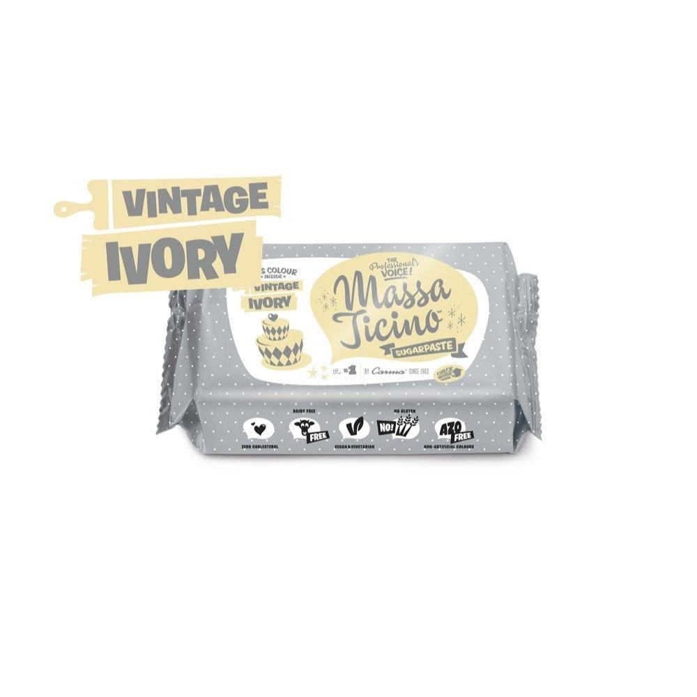 Massa Ticino Vintage Ivory - 250g Sugarpaste - Cake ...