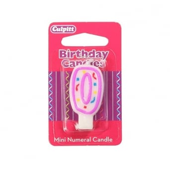 Mini Number 0 Party Candle - Culpitt