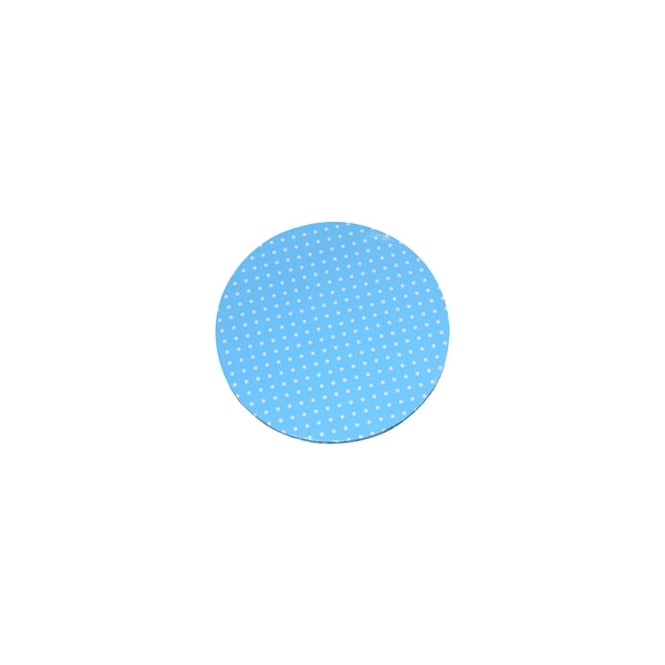 Modecor  Blue with White Dots 12 Inch Round Drum Cake Board