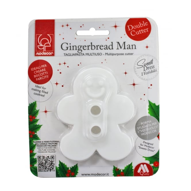 Modecor  Gingerbread Man Double Sided Cookie Cutters