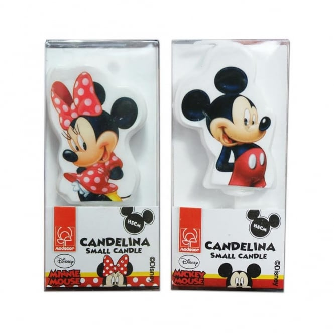 Modecor  Mickey & Minnie Mouse Candles - Choose Your Character