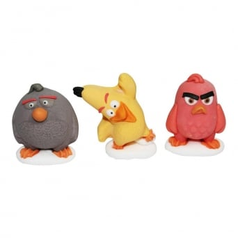 Angry Birds Edible Cake Toppers x 3