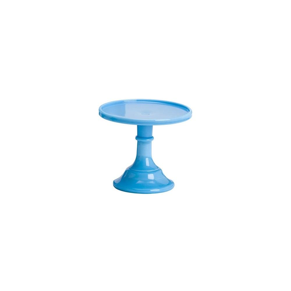 Mosser Bonnie Blue - 6 Inch Glazed Milk Glass Cake Stand ...