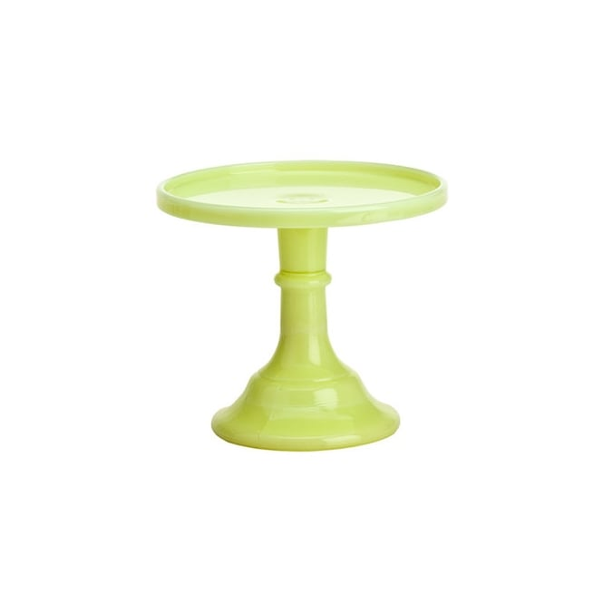 Mosser Buttercream - 6 Inch Glazed Milk Glass Cake Stand