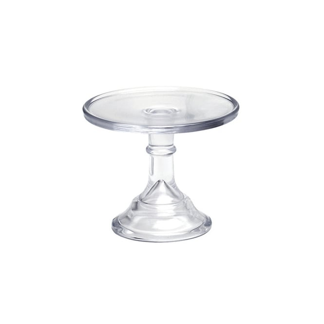 Mosser Crystal Clear - 6 Inch Glazed Milk Glass Cake Stand