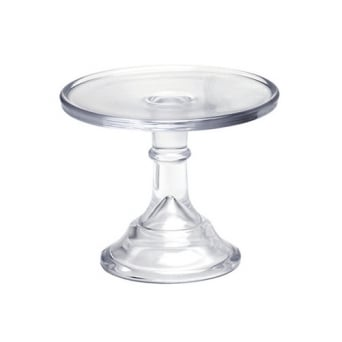 Crystal Clear - 6 Inch Glazed Milk Glass Cake Stand