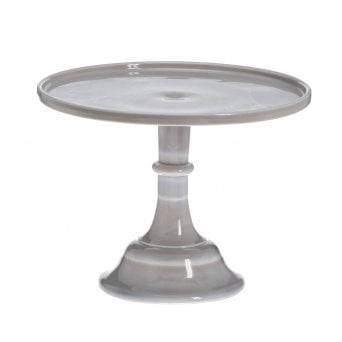 Marble - 10 Inch Glazed Milk Glass Stand