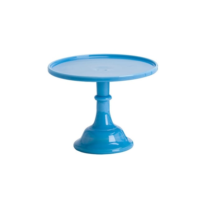 Mosser 9 Inch Glazed Milk Glass Cake Stand - Bonnie Blue