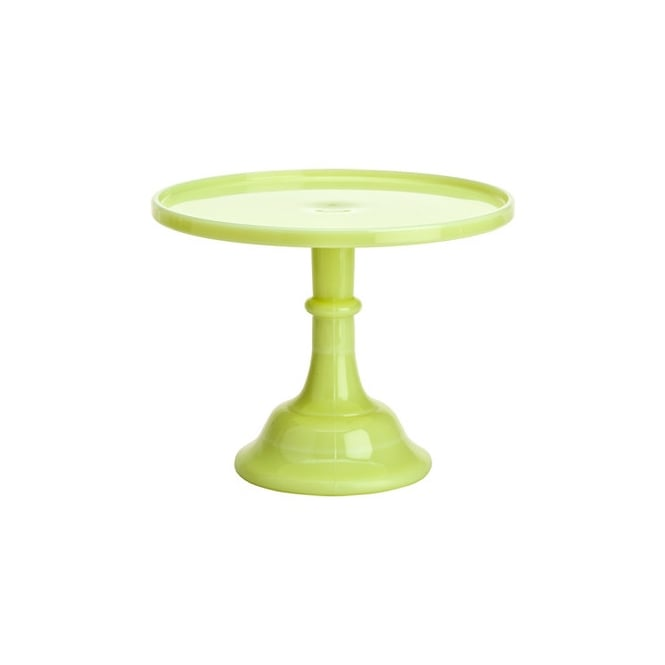 Mosser 9 Inch Glazed Milk Glass Cake Stand - Buttercream