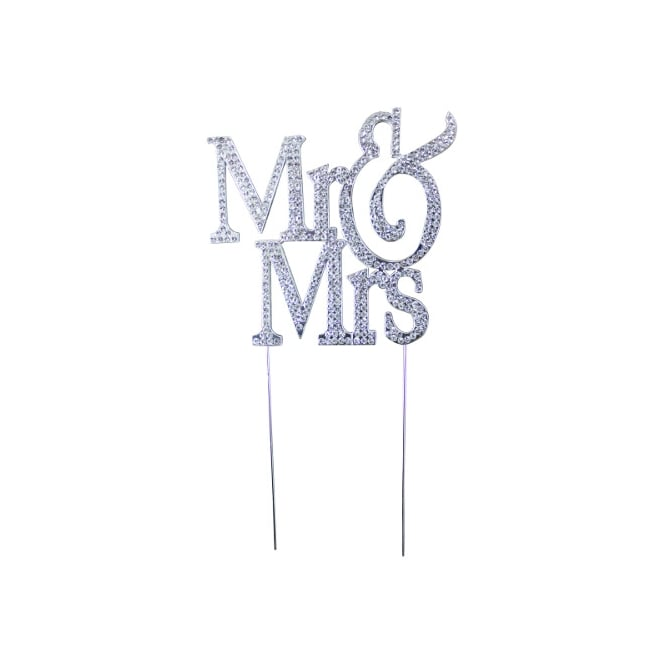 Mr And Mrs Romantic Diamante Embellishment