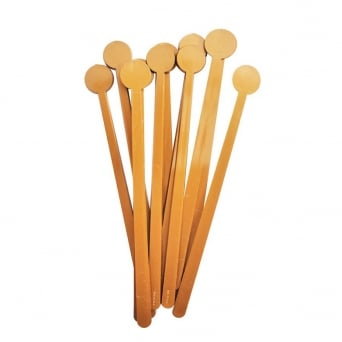 Pack of 10 Gold Mocha Spoon Handles - CK Products