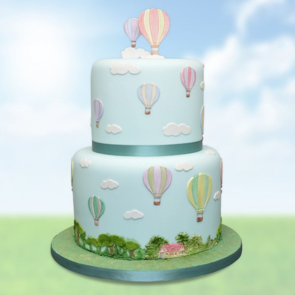 24 icing fairy cake toppers edible decorations Hot Air Balloons