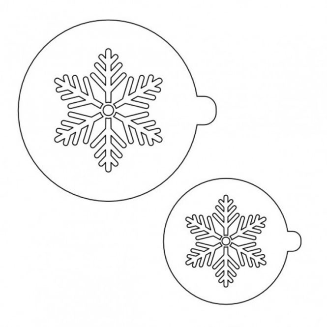Patchwork Cutters Snowflake Stencil Set Of 2