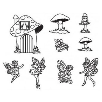 Fairies And Toadstools Cutter Set By Patchwork Cutters