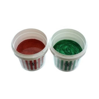 Pearlised Leaf Green And Pearlised Firecracker Red 200g Cake Lace - Festive Kit