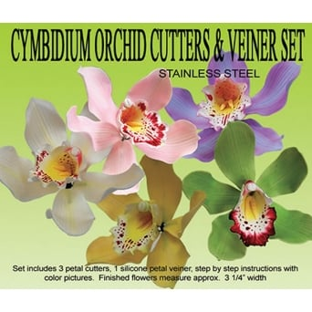 Cymbidium Orchid Cutters And Veiner Set