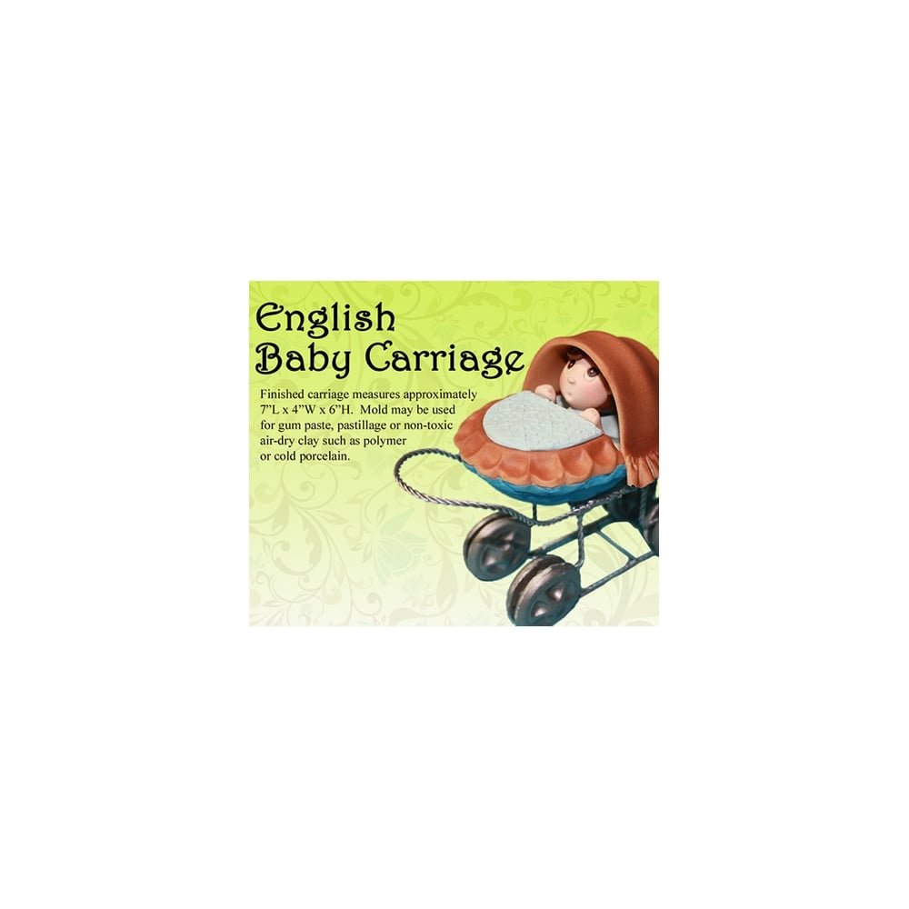 English Baby Carriage Mould Sets