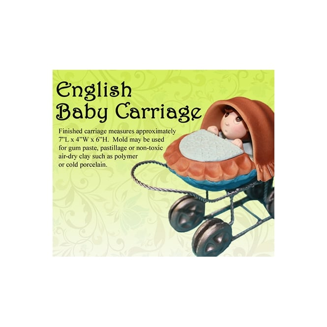 Petal Crafts  English Baby Carriage Mould Sets