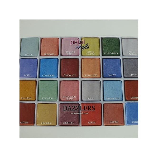 Petal Crafts  Palette Of Dazzler Petal Dust - Set Of 24