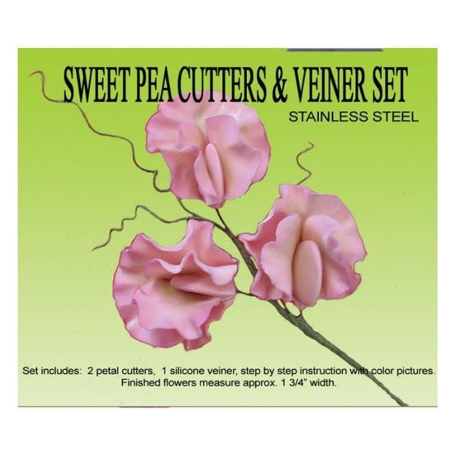 Petal Crafts  Sweet Pea Orchid Cutters & Veiner Set