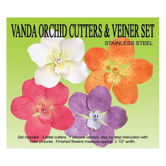Petal Crafts  Vanda Orchid Cutters & Veiner Set