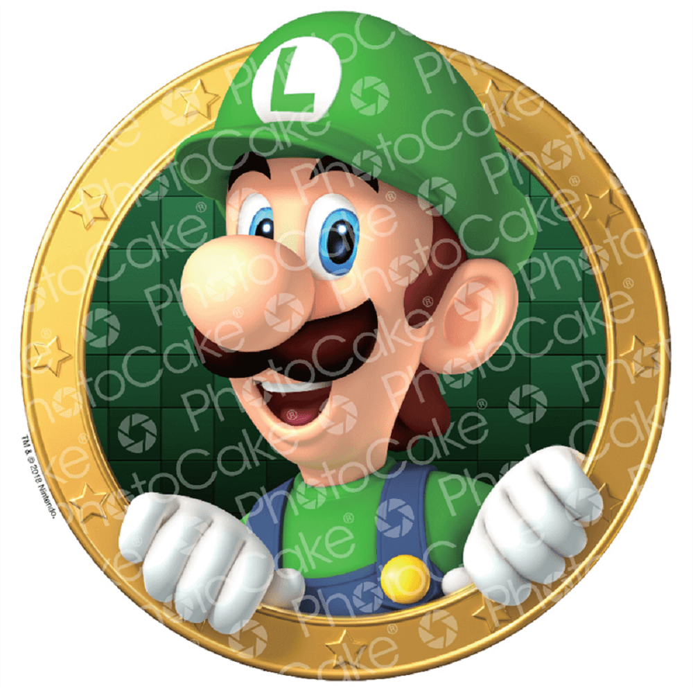 Luigi Super Mario Edible Image