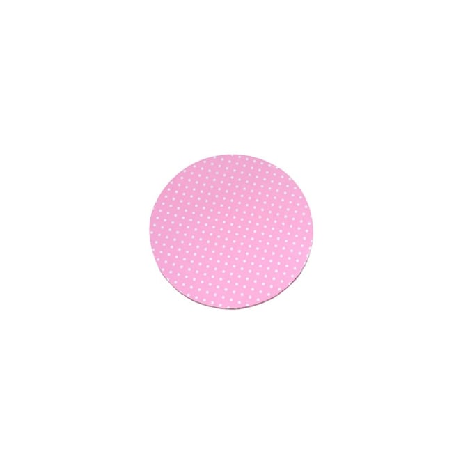 The Cake Decorating Co. Pink with White Dots 16 Inch Round Drum Cake Board