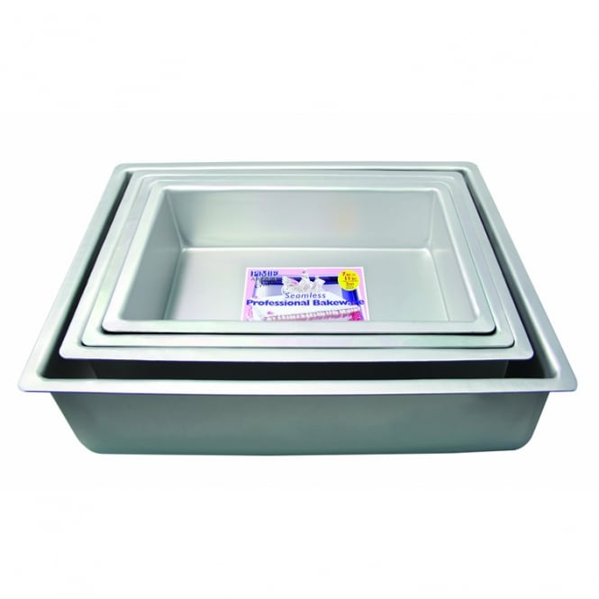 PME Oblong - 15 x 10 x 4 Inch - Seamless Cake Pan Tin