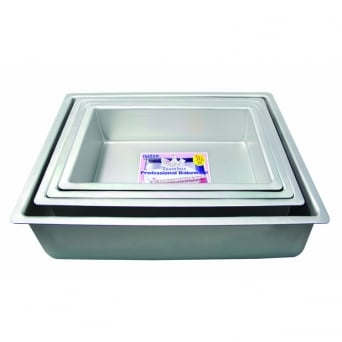 Oblong - 15 x 10 x 4 Inch - Seamless Cake Pan Tin