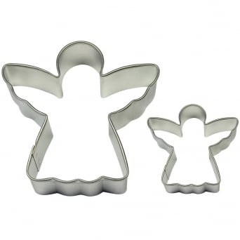 Angel Cake And Cookie Metal Cutter Set Of 2