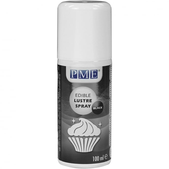 PME Black - Edible Lustre Spray Icing Colouring 100ml