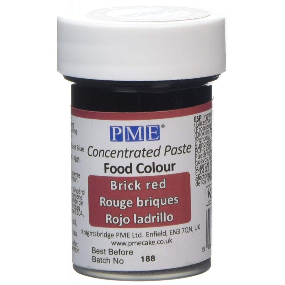 Cake Decorating Gel Paste : PME Brick Red - Gel Paste Colouring - Colours & Flavours ...