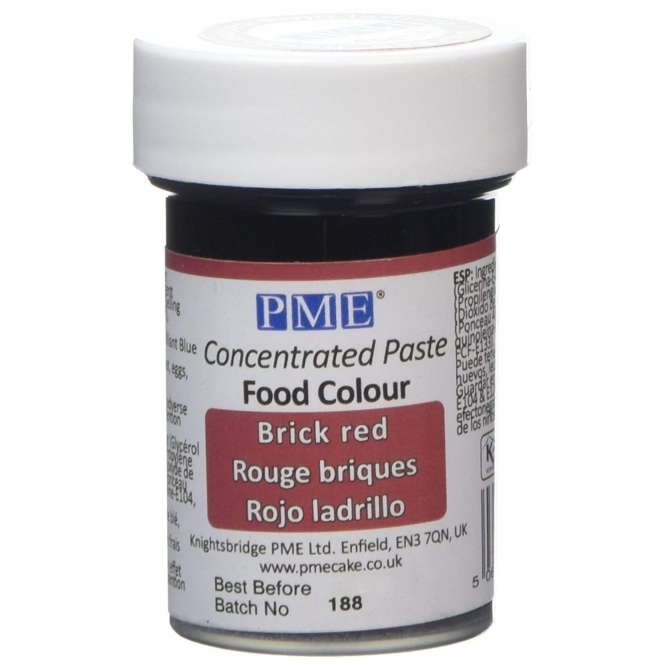 PME Brick Red - Gel Paste Colouring