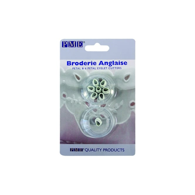 PME Broderie Anglaise Petal And 6 Petal Eyelet Cutter Set - 2 Pieces