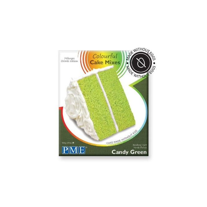 PME Candy Green Colourful Egg Free Cake Mix 500g
