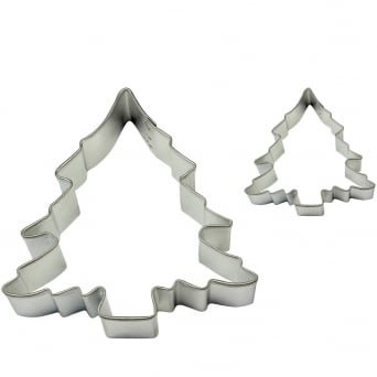 Christmas Tree Cake And Cookie Cutter Set Of 2