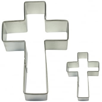 Cross Cake And Cookie Cutter Set Of 2