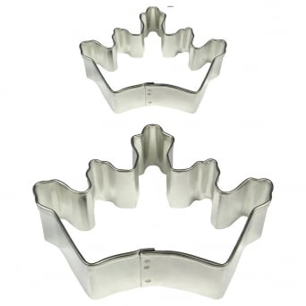 Crown Cake And Cookie Cutter Set Of 2