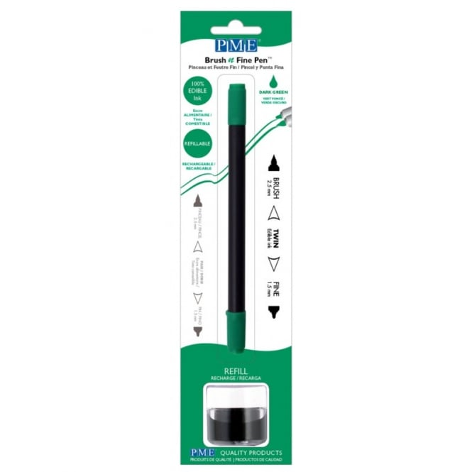 PME Dark Green - Brush N Fine Edible Ink Pen