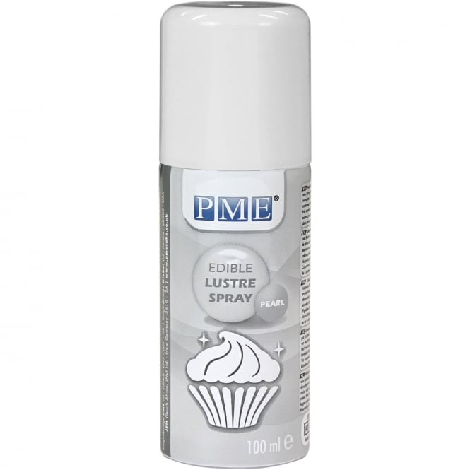 PME Edible Lustre Spray Icing Colouring - Pearl 100ml