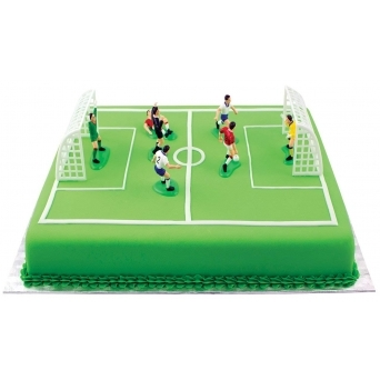 Football Cake Decorations 9 Pieces