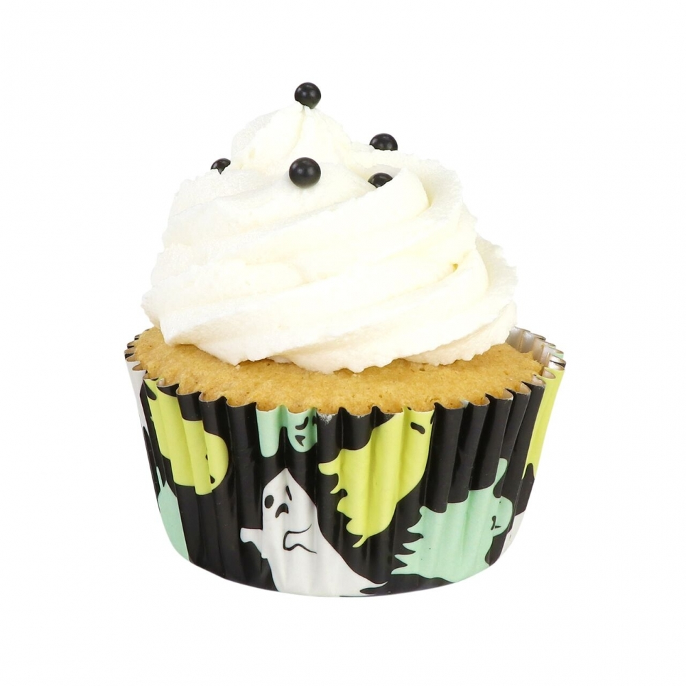 24 HALLOWEEN cake topper scary witch ghost  bun fairy cupcake toppers  party