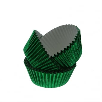 Green - Metallic Baking Cases by x 30 Cups