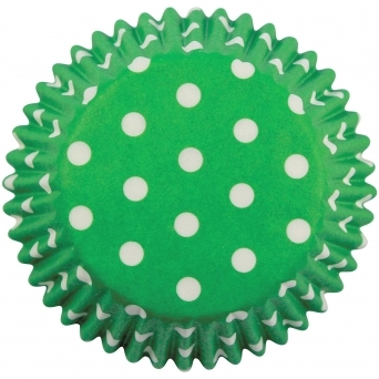 Green Polka Dot Baking Cases 60 Cups